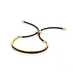 Fervor Montreal - Black enameled bracelet with Swarovski crystals