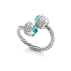 Fervor Montreal - Silver Bella ring Montana with Swarovski crystal