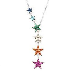 Fervor Montreal - Multicoloured sterling silver Iris pendant