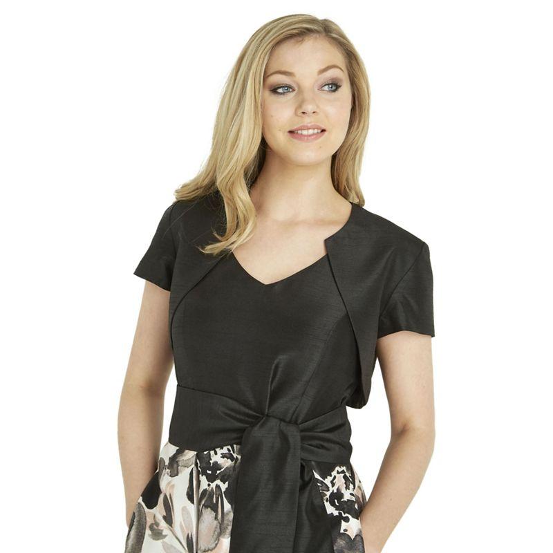 Roman Originals Black Short Sleeve Bolero, Womens, Size: 20