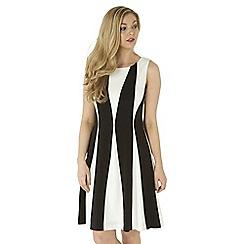 Roman Originals - Black contrast panel dress