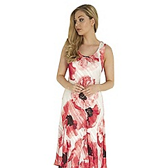 Roman Originals - Coral poppy print dress