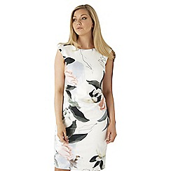 Roman Originals - Ivory pastel floral scuba dress