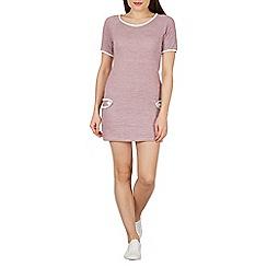 Stella Morgan - Pink short sleeves round neck shift dress