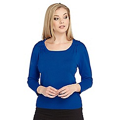 Roman Originals - Blue button detail jumper