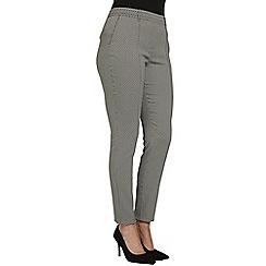 Roman Originals - Black jacquard trousers
