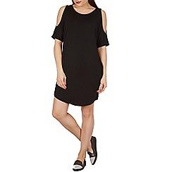 Apricot - Black cold shoulder dress