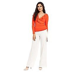 Jane Norman - Orange long sleeve ruffle wrap top