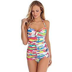 Seaspray - Multicoloured Genevieve paintbox tankini top