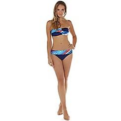 Seaspray - Multicoloured crete twist bandeau bikini top