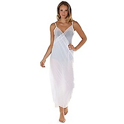Seaspray - White just plain sarong dress