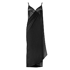 Seaspray - Black just plain sarong dress