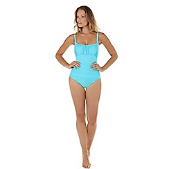 Seaspray - Turquoise ruched strap swimsuit