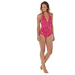 Seaspray - Multicoloured Jaipur plunge halter swimsuit