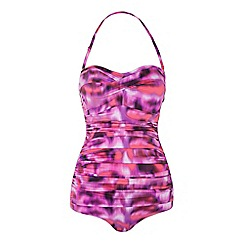 Seaspray - Multicoloured Casablanca bandeau trim swimsuit
