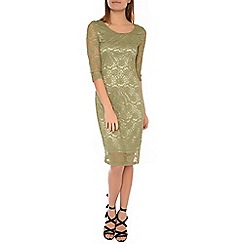 Alice & You - Khaki lace layer midi dress
