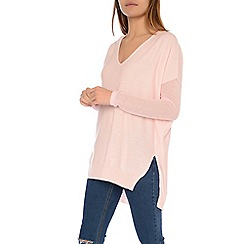 Alice & You - Light pink v-neck knitted jumper