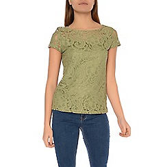 Alice & You - Khaki lace t-shirt
