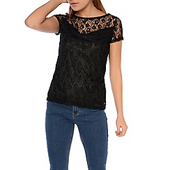 Alice & You - Black lace t-shirt