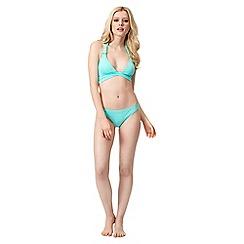 Jane Norman - Light green cross over bikini top