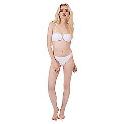 Jane Norman - White macrame bandeau bikini top