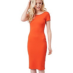 Jane Norman - Orange orange texture rib dress