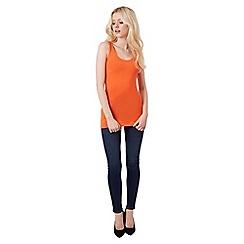 Jane Norman - Orange bust shelf support vest