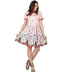 Lindy Bop - Pink celestia verona swing dress