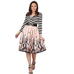 Lindy Bop - Pink sinead fairies swing dress
