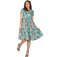Lindy Bop - Light green brittany study swing dress