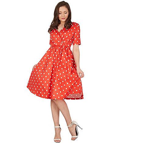Red aline dress