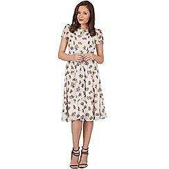 Lindy Bop - Cream bretta kitten tea dress
