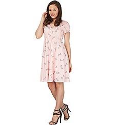 Lindy Bop - Pink ariadne love birds day dress