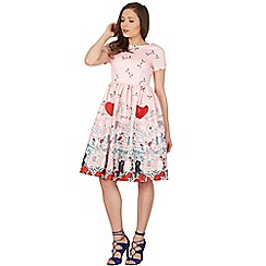Lindy Bop - Pink brittany verona swing dress