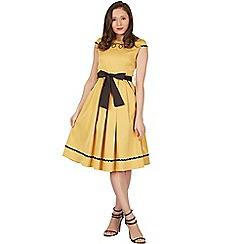 Lindy Bop - Mustard bethany swing dress