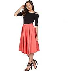 Lindy Bop - Light orange peggy sue full circle skirt