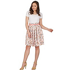 Lindy Bop - Pink julia mirrors swing skirt