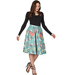 Lindy Bop - Light green bernadette study swing skirt