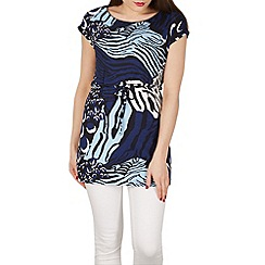 Solo - Blue arabella printed tunic