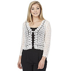 Roman Originals - Ivory crochet shrug
