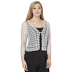 Roman Originals - Silver crochet shrug