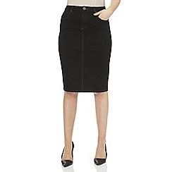 Roman Originals - Black denim pencil skirt