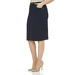 Roman Originals - Blue denim pencil skirt
