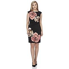 Roman Originals - Black large floral dress