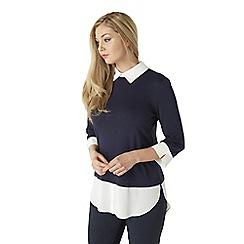 Roman Originals - Navy shirt layer top