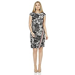 Roman Originals - Black leaf print dress