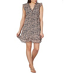 Apricot - Navy floral ditsy dress