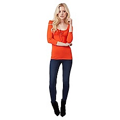 Jane Norman - Orange gypsy style top