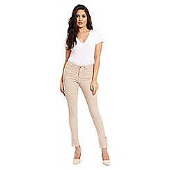Jane Norman - Pink popper cuff skinny jeans