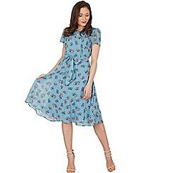 Lindy Bop - Blue bretta kitten tea dress